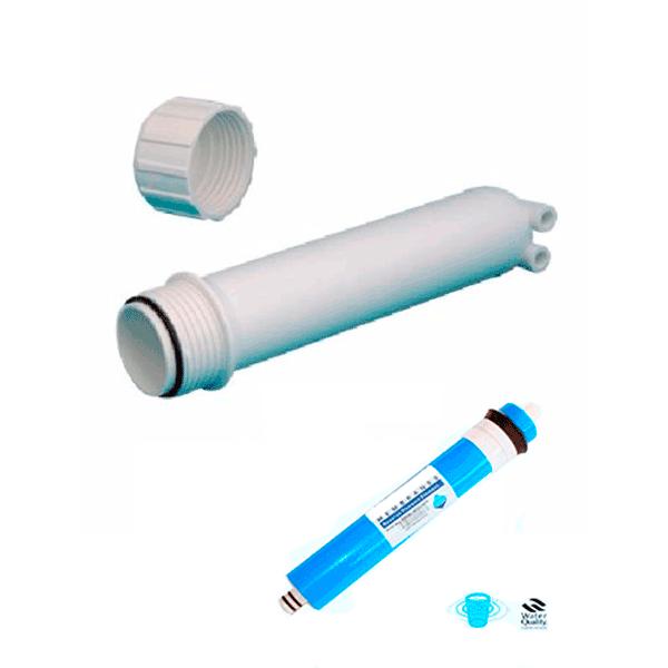 Capsula donde va instalada la membrana de osmosis inversa